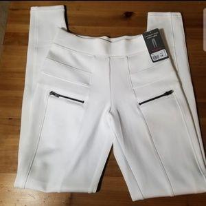 Yummie Blake Scuba Skimmer Leggings, White (XS)